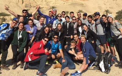 AZYC participants in Israel.