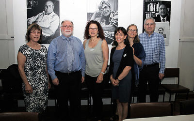 From left: Elly Brooks (JHC executive member), Warren Fineberg (JHC executive director), Sue Hampel (JHC co-president), Lisa Phillips (JHC director of education), JHC director of education, Jayne Josem (JHC curator & head of collections) and Norman Seligman (Sydney Jewish Museum CEO).