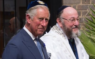Prince Charles at the inauguration of Chief Rabbi Ephraim Mirvis. Photo: Stefan Rousseau/Pool/Getty Images