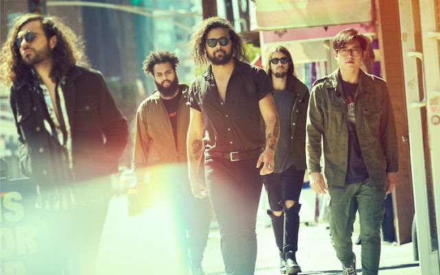 Gang of Youths with frontman David Le'aupepe (centre). Photo: John Tsiavis