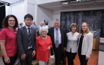 From left: Sue Hampel, JHC co-president; Shota Tohara, Japanese cultural vice-consul; Hannelore Hauser; Yoshimitsu Kawata; Elly Brooks, JHC board member; and Jayne Josem. Photo: Julius Sevcik.