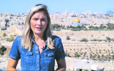 Sophie McNeill reporting from Jerusalem. Photo: Screengrab