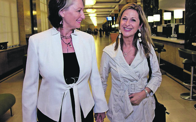 Sydney couple Dr Kerryn Phelps (left) and Jackie Stricker-Phelps at their New York wedding.
