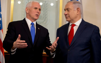 Mike Pence with Benjamin Netanyahu. Photo: Reuters/Ariel Schalit/JPost
