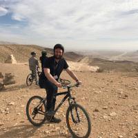 Rabbi Daniel Rabin riding in the Negev.