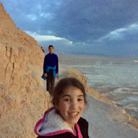 Edward Baral entered this photo of Lee and Harry Baral on a pre-dawn walk at Masada.