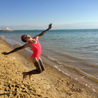 Edward Baral entered this photo of daughter Lee dancing at the Dead Sea.