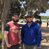 Gabbi Sar-Shalom entered this photo of son Aviad and friend Benny Goldman in Angelsea.