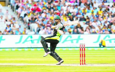 Michael Klinger in action for Australia against Sri Lanka at the MCG last year. Photo: Peter Haskin