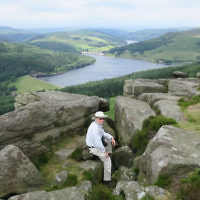 Micky Perlman entered this photo of Ralph Hilmer in Britain's Peak District National Park.