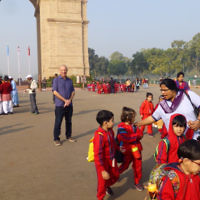 Michelle Hamberger entered this holiday photo of  Jonathan Hamberger at India Gate, New Delhi.
