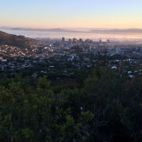 Micky Perlman entered this photo of sunrise over Table Bay in Cape Town.