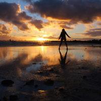 Sharon Flitman entered this sunset photo taken at Aspendale beach, Victoria.