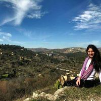 Tahnie Han in Jerusalem.