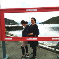 Vivienne Deitz is pictured with daughter Tahnie Hanouka at Picton, New Zealand.