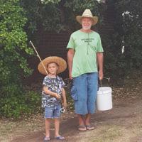 Raymond Rothschild and his grandson Jacob Ri chardson going fishing in Frankston.