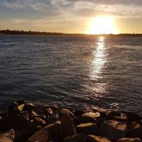 Amanda Morris entered this sunset photo taken at Lakes Entrance.