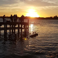 Amanda Morris entered this sunset photo taken by the pier in Lakes Entrance.