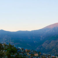 Anthony Zwi entered this sunset photo taken in Nepal.