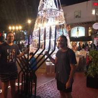 Ari Josefsberg (left) and a friend in Mexico.