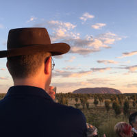Claudia Basser entered this photo of her husband Quentin at Uluru.