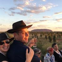 Claudia and Quentin Basser at Uluru.
