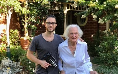 Director Dean Ginsburg with 92-year-old Shirley Affleck during filming of The Life I've Seen.