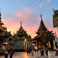 Evelyn Palmer entered this sunset photo taken in Yangon, Myanmar.