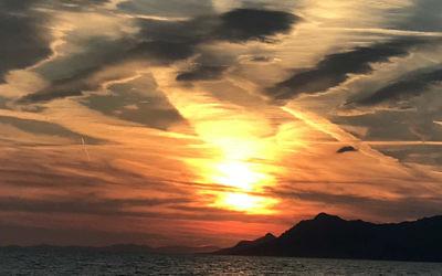 Evelyn Palmer entered this sunset photo taken over Makarska. Croatia.