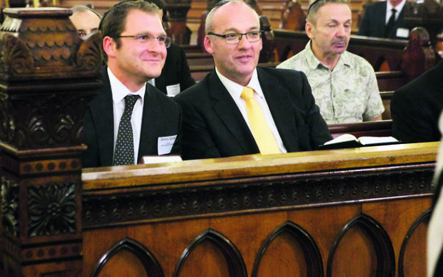 Spinak with former NSW Opposition Leader Luke Foley at The Great Synagogue recently.