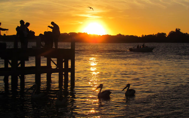 Melissa Morris entered this photo of sunset at Lakes Entrance.