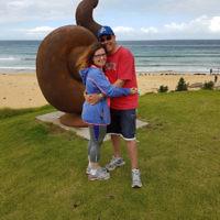 Melissa and Braham Morris at Short Point Beach, Merimbula.