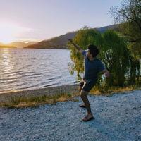 Avishai Brown at sunset in Queenstown, New Zealand.