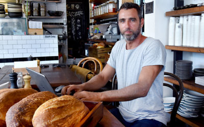 Co-owner of Shuk Erez Beker claims he is being discriminated against by the KA. Photo: Noel Kessel