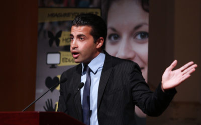 Mosab Hassan Yousef speaking in Melbourne in 2011.