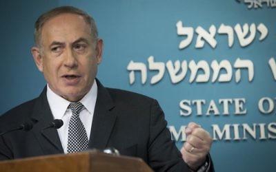 Prime Minister Benjamin Netanyahu during a press conference last year. Photo: Yonatan Sindel/Flash90