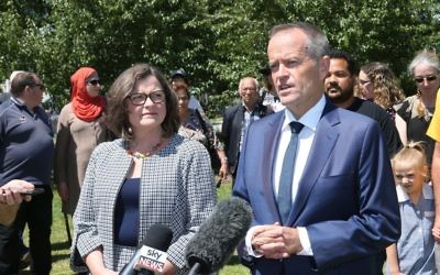 Labor leader Bill Shorten announces Ged Kearney as the party's candidate for Batman last Friday. Photo: AAP Image/David Crosling