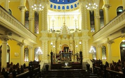 The interior of The Great Synagogue.