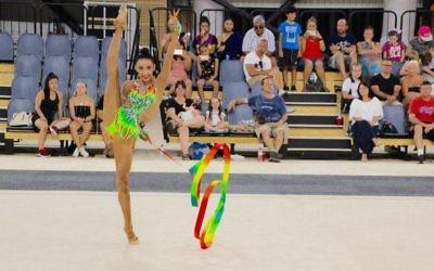 Rhythmic gymnast Alexandra Kiroi-Bogatyreva. Photo: Gymnastics Australia