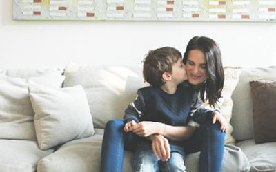 Board member and volunteer of the Australian Jewish Fertility Network Lori Levin with her eldest son.