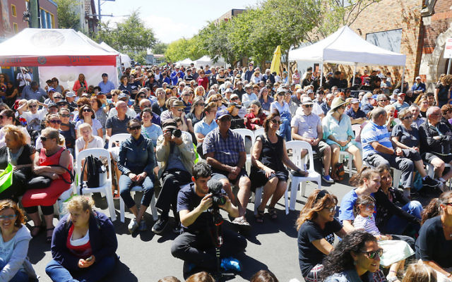 In One Voice street festival attendees enjoying YID! perform. Photo: Peter Haskin