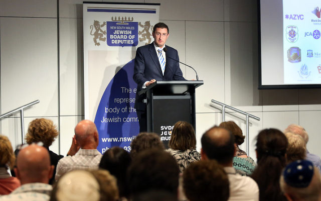 Julian Leeser at the launch of the strategy. Photo: Noel Kessel
