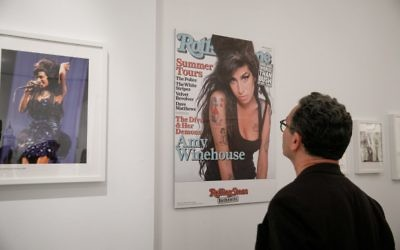 Photos and posters from the Amy Winehouse: A Family Portrait exhibition at the Jewish Museum of Australia.	Photo: Peter Haskin
