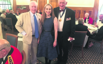 Kate Ashmor with Professor Roland Perry (left) and former deputy PM Tim Fischer.