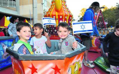 Children at Yom Ha'atzmaut last year. Photo: Noel Kessel