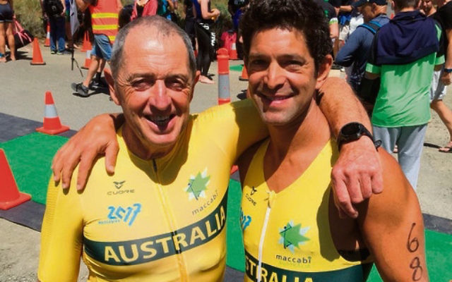 Neil Slonim and Josh Goldstat recently won their respective age groups at the Tasmanian Sprint Distance Triathlon Championship.