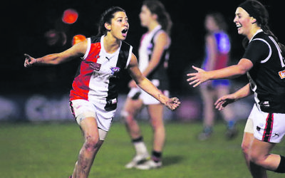 Toni Hamilton (pictured) made her VFLW debut last weekend. Photo: Arj Giese