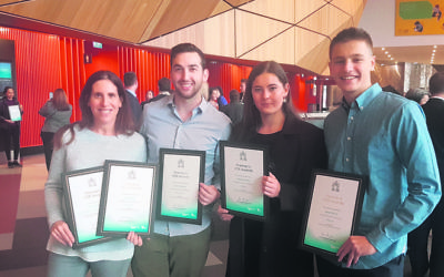 From left: Cara Davies' mother Danielle, Jeremy Bassat, Isabelle Worth and Sahar Shavit.