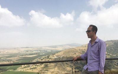 Nathan Jeffay looks towards Syria from Mount Bental.