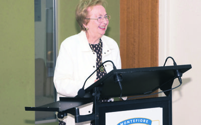 Betty Wilkenfeld at the launch of her Montefiore Community Life Story in April.